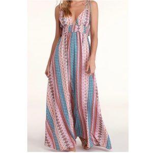 Lulus Maxin' Relaxin' Multi-print Maxi Dress